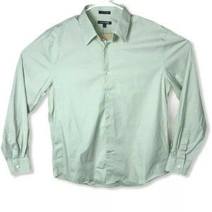 Express Men's  1MX Fitted Easy Care Dress Shirt